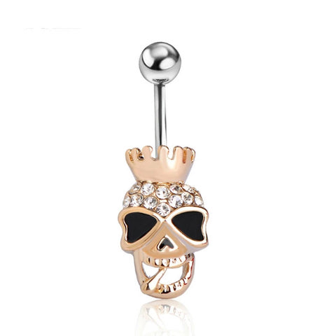 Image of Thora Skull Belly Piercing Ring
