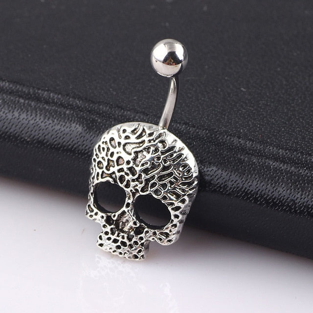 Ryker Skull Belly Piercing Jewelry