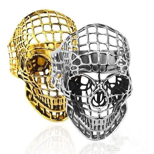Rahm Grid Skull RIng