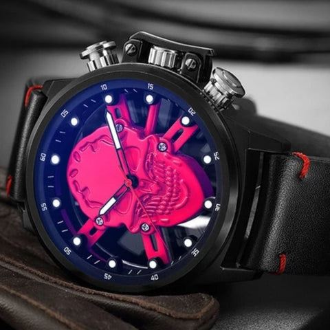 Idris Fashion Hollow Skull Mens Watch