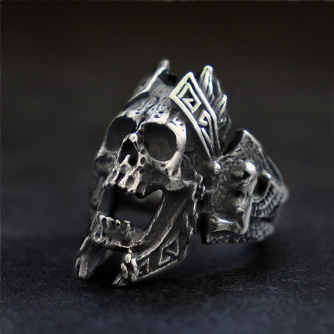 Image of Jael Biker Skull Ring