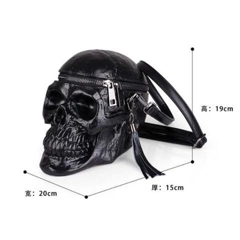 Image of Raz 3D Skull Shoulder Bag