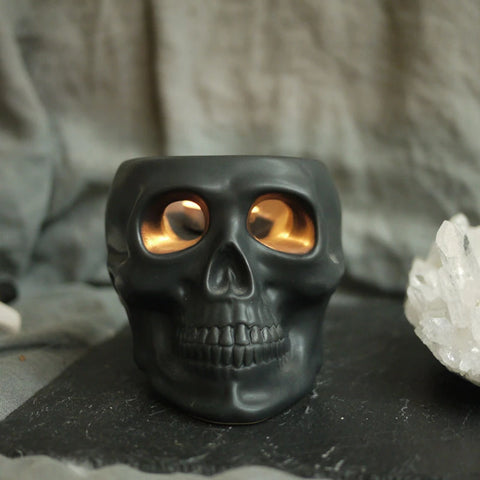 Bates Skull Candle Holder