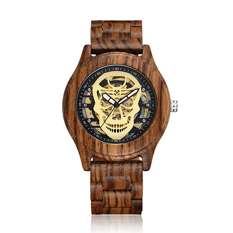Dorian Wooden Skull Watch