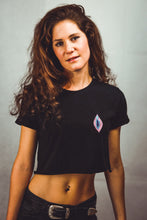 Load image into Gallery viewer, Vulva - Crop Top - Black