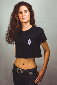 Vulva - Crop Top - Black