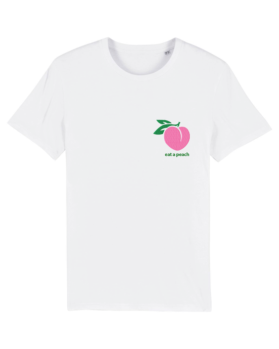 Eat a Peach - T-Shirt - White