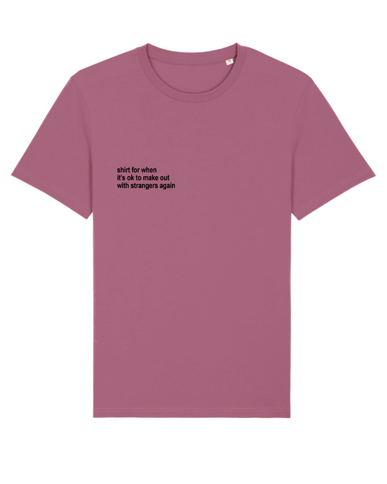Make Out - T-Shirt - Mauve