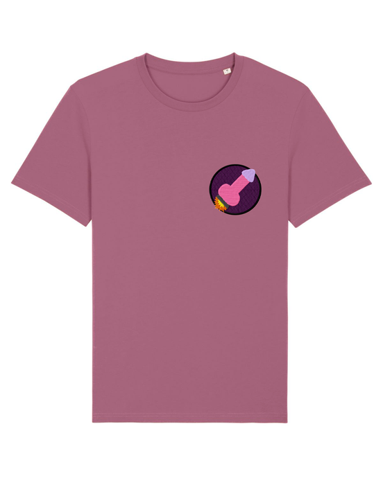 Penis Space Ship - T-Shirt - Mauve