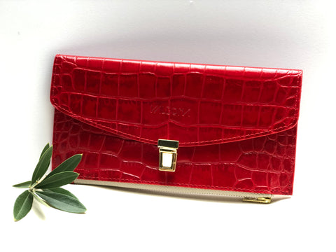 ***NEW*** the wonder wallet - RED CROCO PRINT