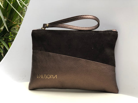 ***LAST PIECES***POCHETTE GRANDE - METAL BROWN
