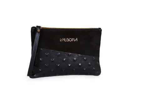 ***LAST PIECES***POCHETTE GRANDE - BLACK WITH STUDS