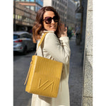 Shopper 2 IN 1 - Yellow with print