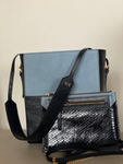 Shopper 2 IN 1 & crossbody clutch - Dark Blue