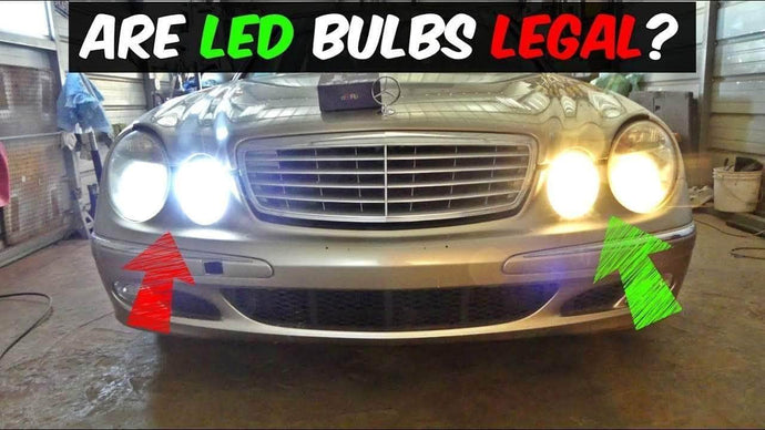 Are LED headlights illegal?