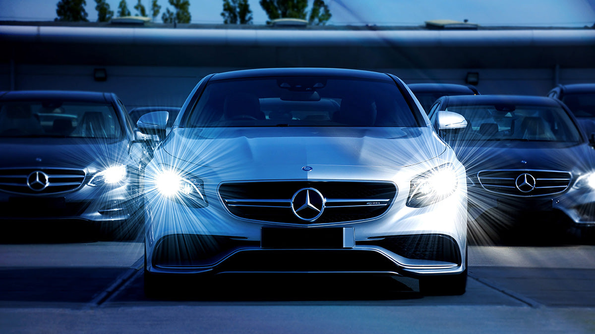 Mercedes LED headlights