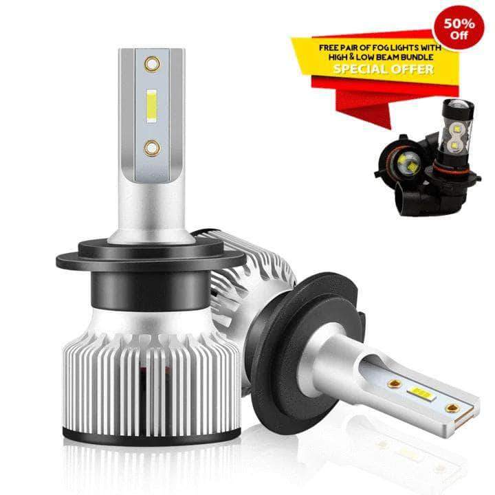 Carifex HIGH & LOW BEAMS ( INCLUDING FREE FOG LIGHTS ) - 50% OFF CARIFEX®  Mini-Sized LED Headlight Sets