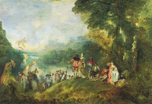 The Embarkation for Cythera by Antoine Watteau  I  Blue Surf Art