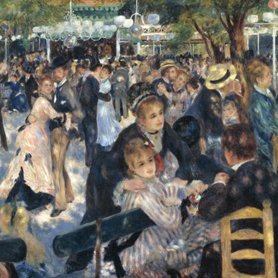 """Dance at Moulin de la Galette"" by Pierre-Auguste Renoir"