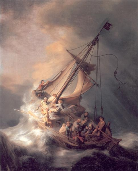 The Storm on the Sea of Galilee by Rembrandt Harmenszoon van Rijn