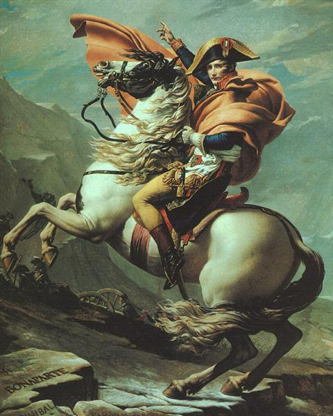 Napoleon Crossing the Alps at the St Bernard Pass, 20th May 1800