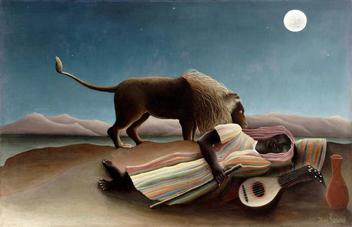 The Sleeping Gypsy by Henri Rousseau  I  Blue Surf Art