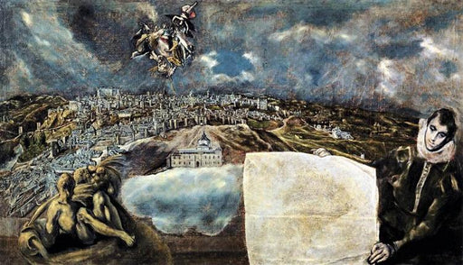 """View and plan of Toledo"" by El Greco"