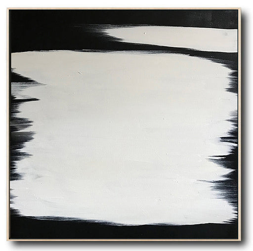 Abstract Black & White Square Size Canvas Art by Blue Surf Art Wall Art, Home Decor, Reproduction