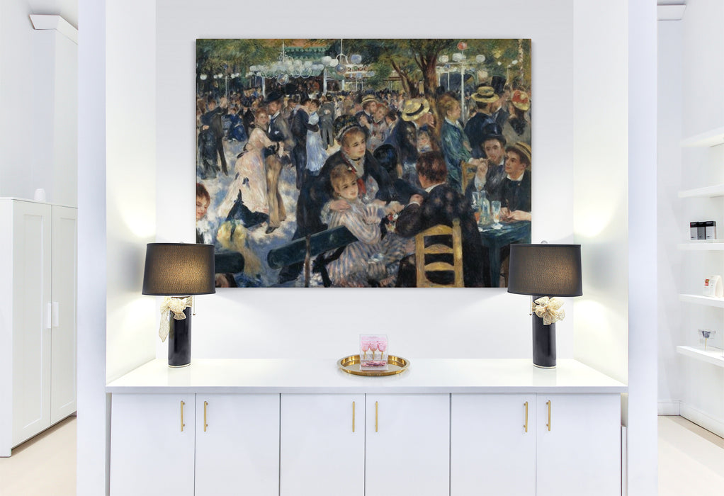 """Dance at Moulin de la Galette"" by Pierre-Auguste Renoir, reproduction by blue surf art"