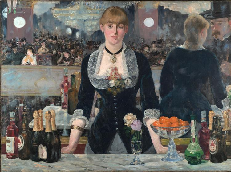 A Bar at the Folies-Bergere by Edouard Manet  I  Blue Surf Art