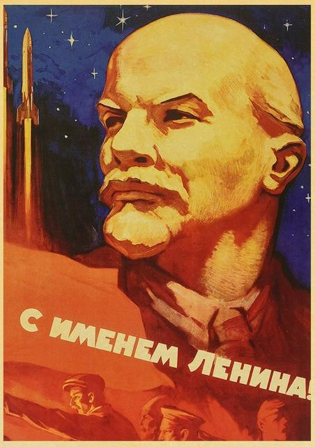 Vintage Russian Propaganda with an Elderly Man Poster Art