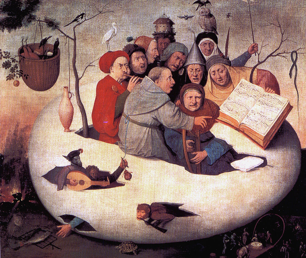 Concert in the Egg by Hieronymus Bosch I Blue Surf Art