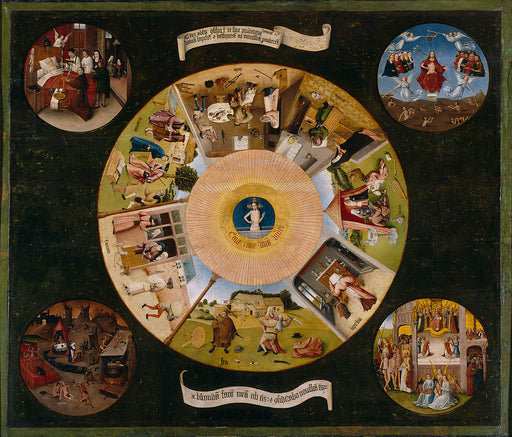 The Seven Deadly Sins and the Four Last Things by Hieronymus Bosch I Blue Surf Art