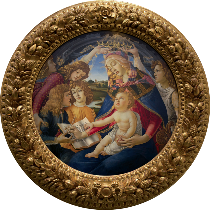 Madonna of the Magnificat by Sandro Botticelli I Blue Surf Art