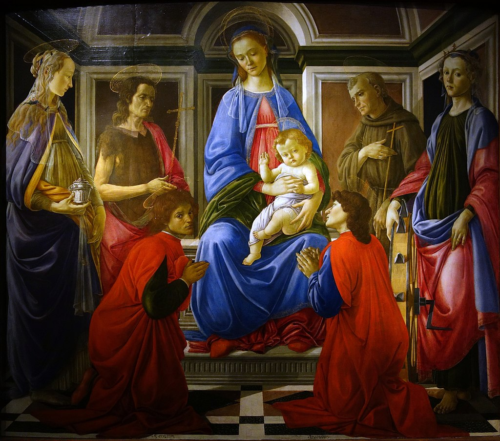 Sant'Ambrogio Altarpiece by Sandro Botticelli I Blue Surf Art