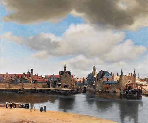 View of Delft by Johannes Vermeer Reproduction Painting by Blue Surf Art
