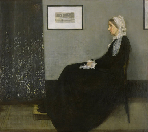 Whistler's Mother by James Abbott McNeill Whistler Reproduction Painting by Blue Surf Art