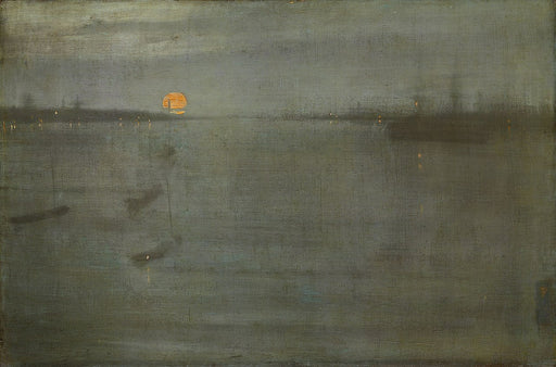 Nocturne: Blue and Gold--Southampton Water by James Abbott McNeill Whistler Reproduction Painting by Blue Surf Art