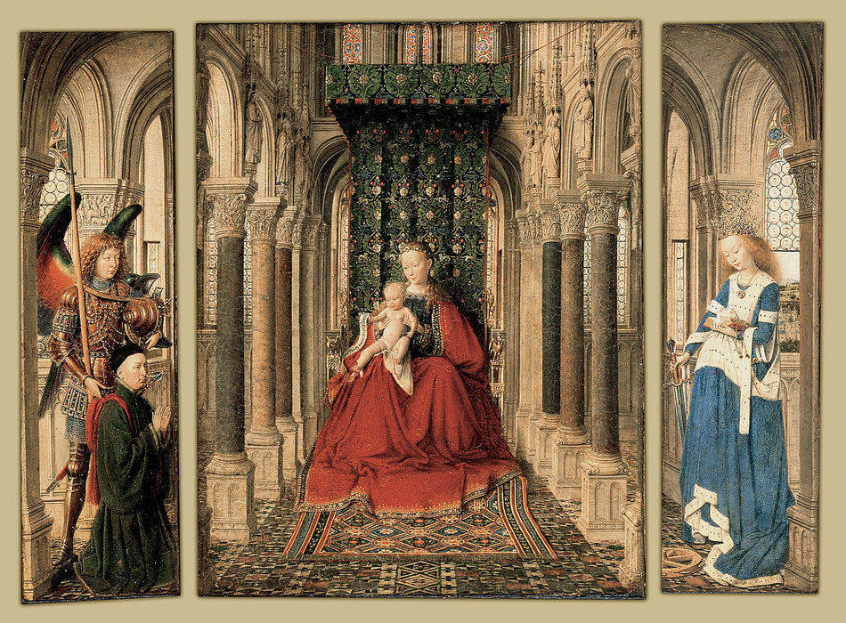Dresden Triptych by Jan Van Eyck Reproduction Painting by Blue Surf Art