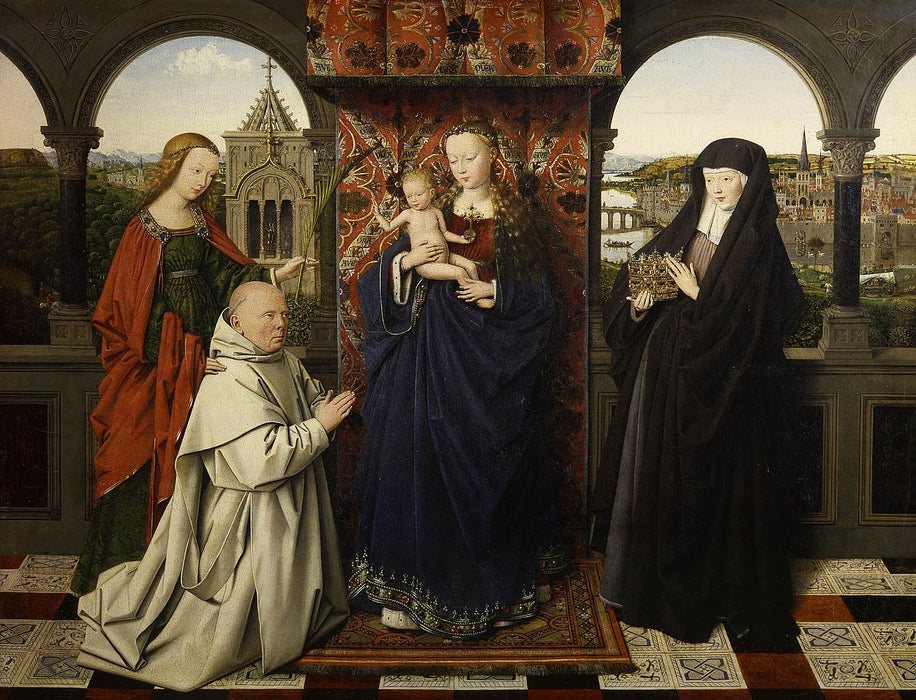 Madonna of Jan Vos by Jan Van Eyck Reproduction Painting by Blue Surf Art