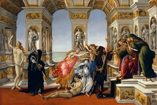 Calumny of Apelles (Botticelli) by Sandro Botticelli I Blue Surf Art