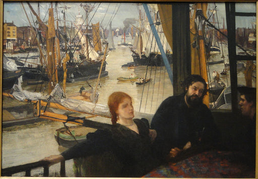Wapping by James Abbott McNeill Whistler Reproduction Painting by Blue Surf Art