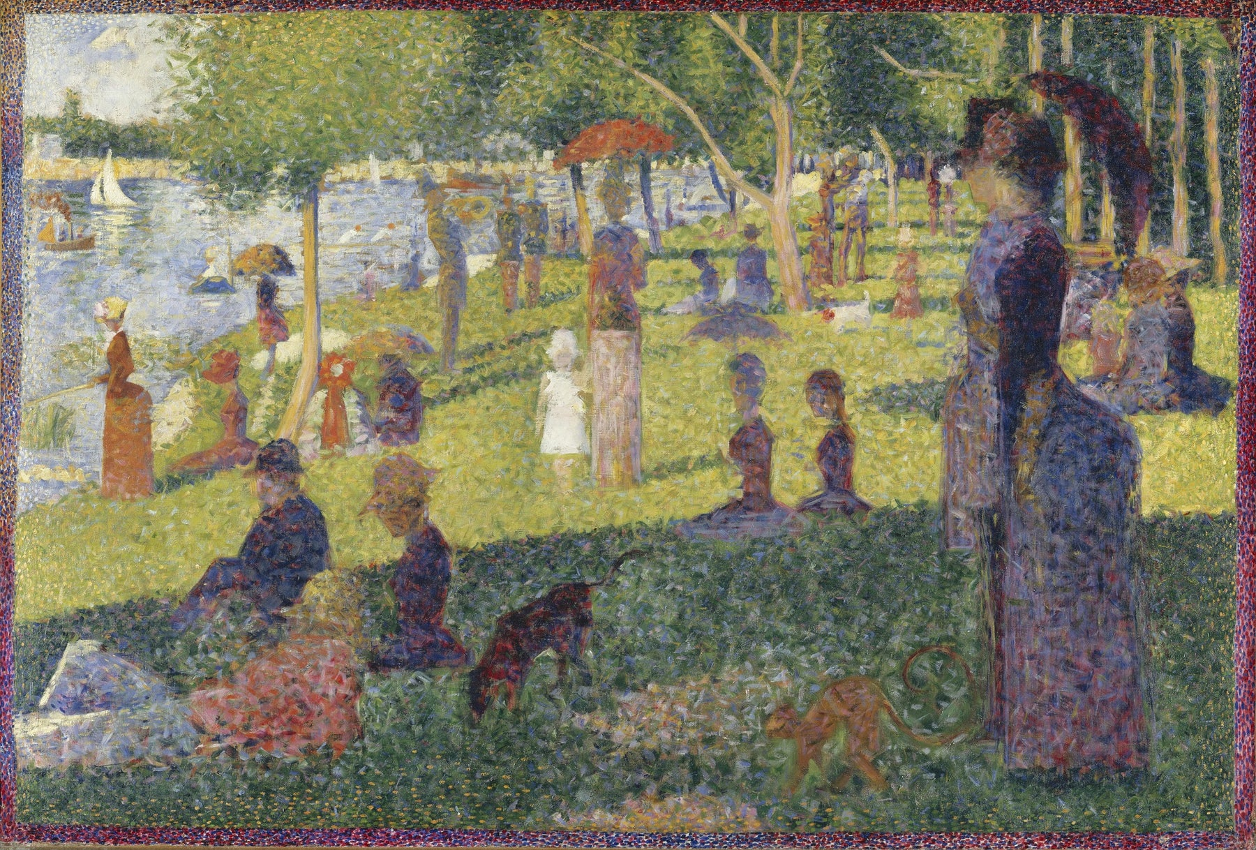 Study for A Sunday on La Grande Jatte by Georges Seurat Reproduction Painting by Blue Surf Art Grande Jatte