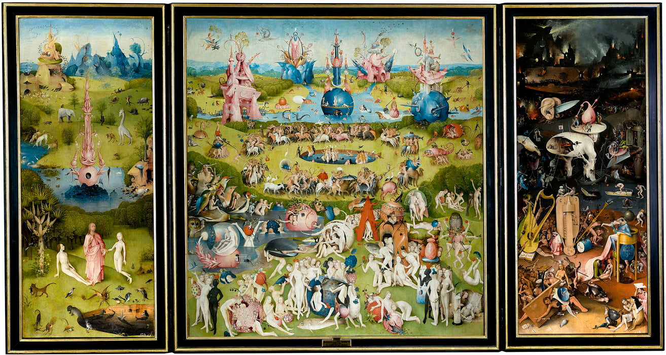 The Garden of Paradise by Hieronymus Bosch I Blue Surf Art