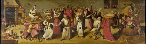 Battle between Carnival and Lent by Hieronymus Bosch I Blue Surf Art