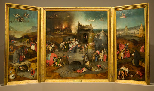 Triptych of the Temptation of St. Anthony by Hieronymus Bosch I Blue Surf Art