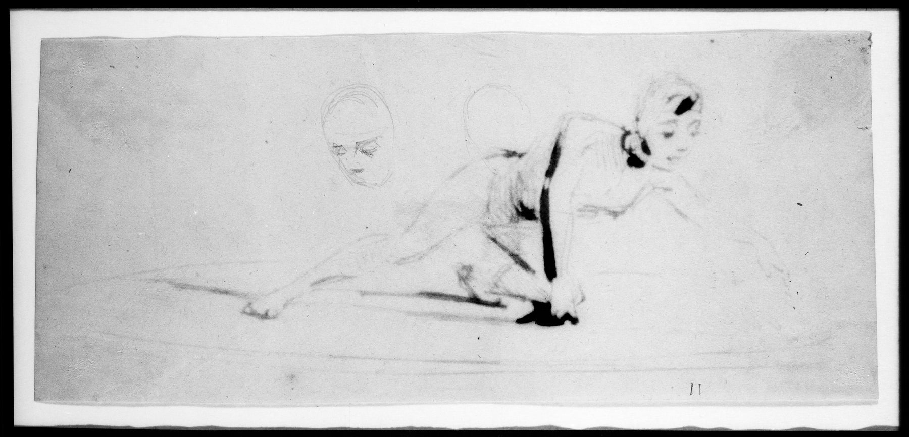 Gladiator (from Sketchbook) by James Abbott McNeill Whistler Reproduction Painting by Blue Surf Art