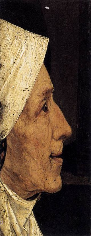 Head of a Woman by Hieronymus Bosch I Blue Surf Art