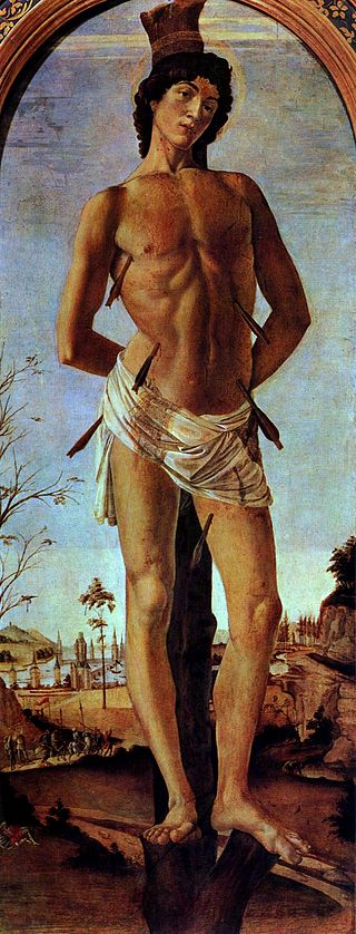 St. Sebastian (Botticelli) by Sandro Botticelli I Blue Surf Art