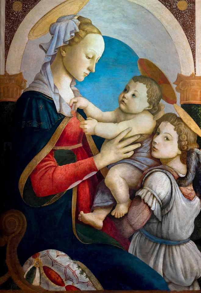 Madonna of the Rose Garden (Botticelli) by Sandro Botticelli I Blue Surf Art